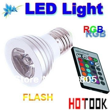 AC 85~265V 3W E27 RGB LED Bulb Lamp 16 Color changing led Spot light with Remote Control warranty 2 years CE ROHS X 180pcs