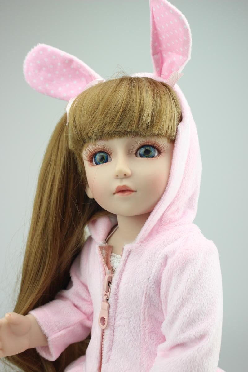 2016 The Most Popular 45cm 18 '' Cheapest Silicone Reborn Baby Girls SD/BJD Doll With Fashion Baby Doll Clothes Hot Sell For Kid(China (Mainland))