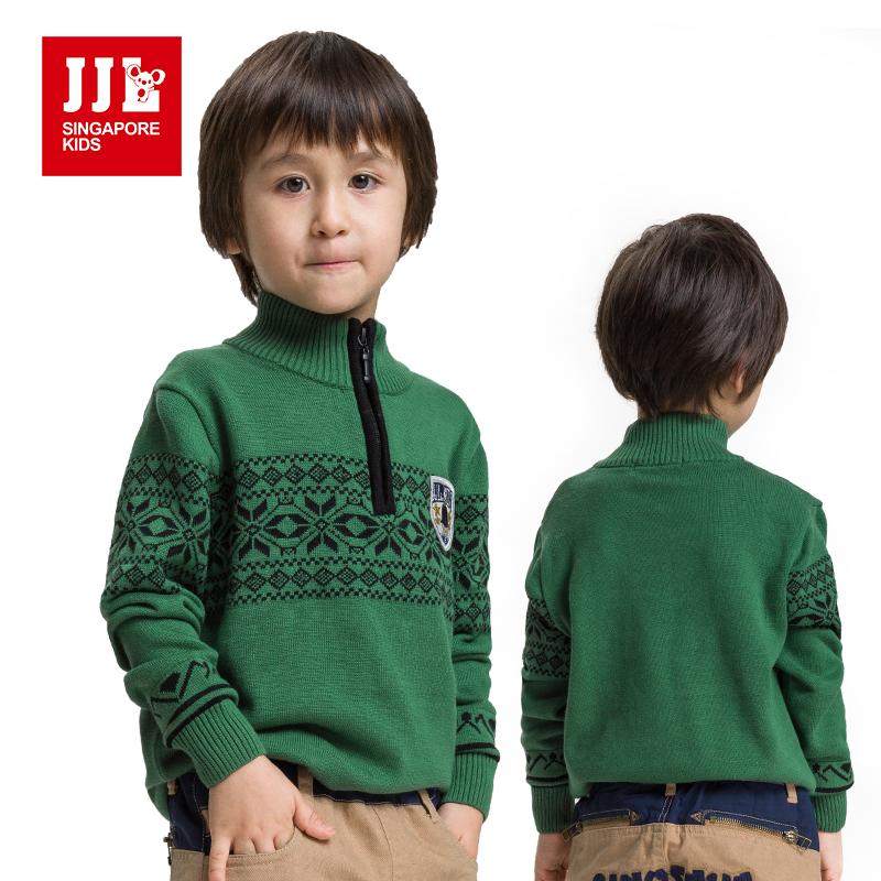 Boys Sweater Turtleneck Sweater Kids Winter Pullover
