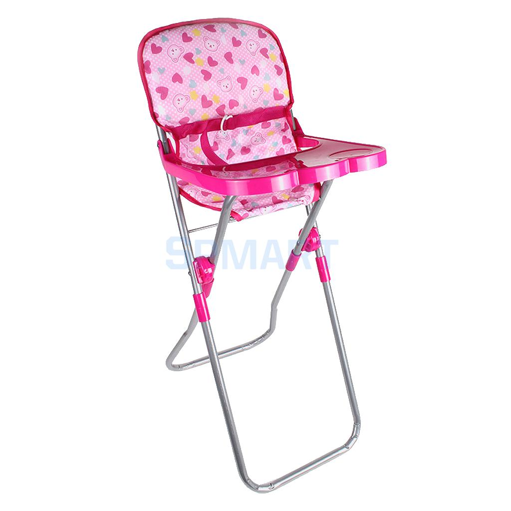 23*31*56cm Baby Doll Dining High Chair Model Simulation Furniture Model for 9-12inch Doll Kids Pretend Play Toy