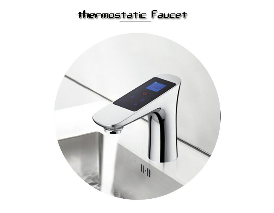 2018 Chrome Thermostat 220v Digital Faucet Thermostat Temperature ...