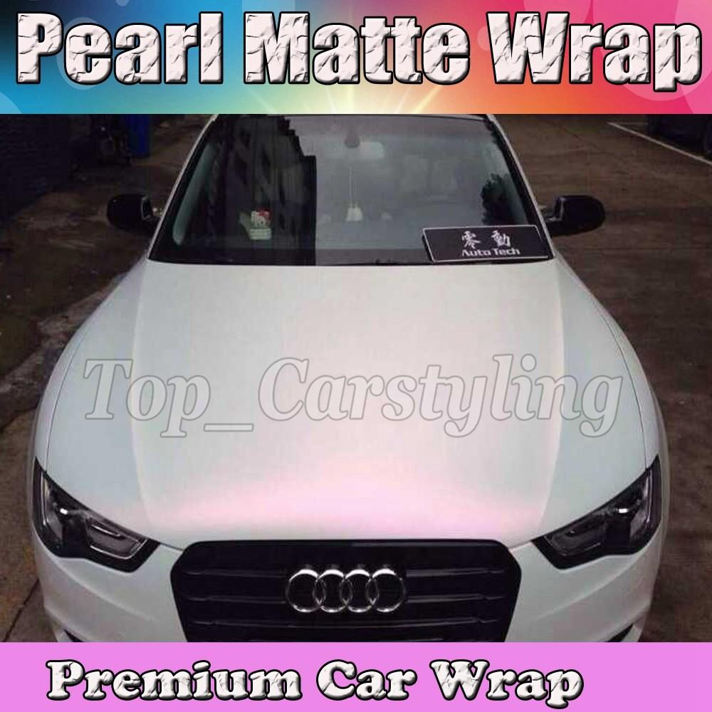 Pearlescent Matte white pink shiny Pearl matt Film Car wrap vinyl Foil 3M APA ARLON PEARL SATIN (2)