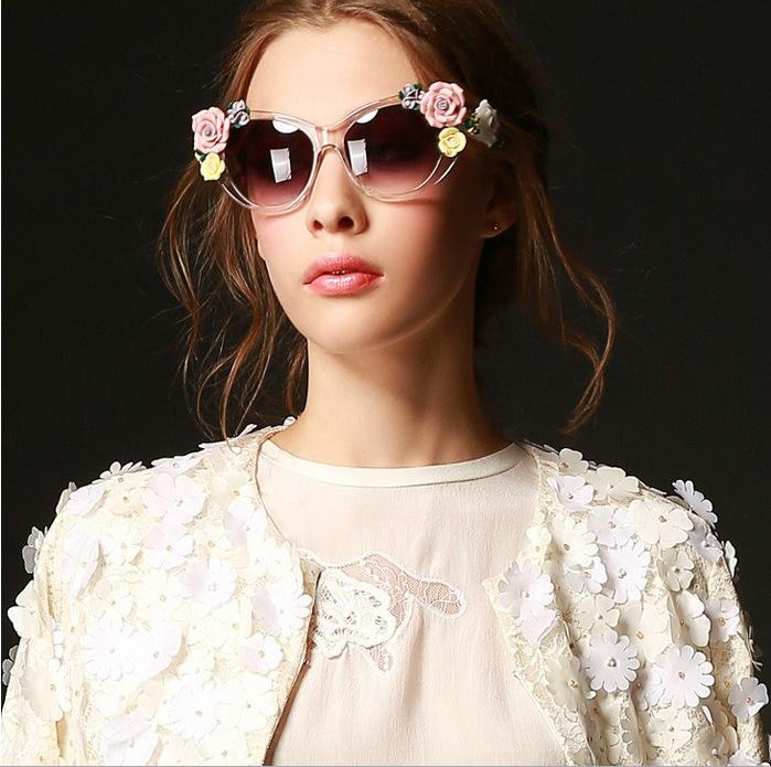 cat walk Newest acetate sunglasses brand design sunglass man women Spindly Legs metal star style free shipping buy any 2send box(China (Mainland))