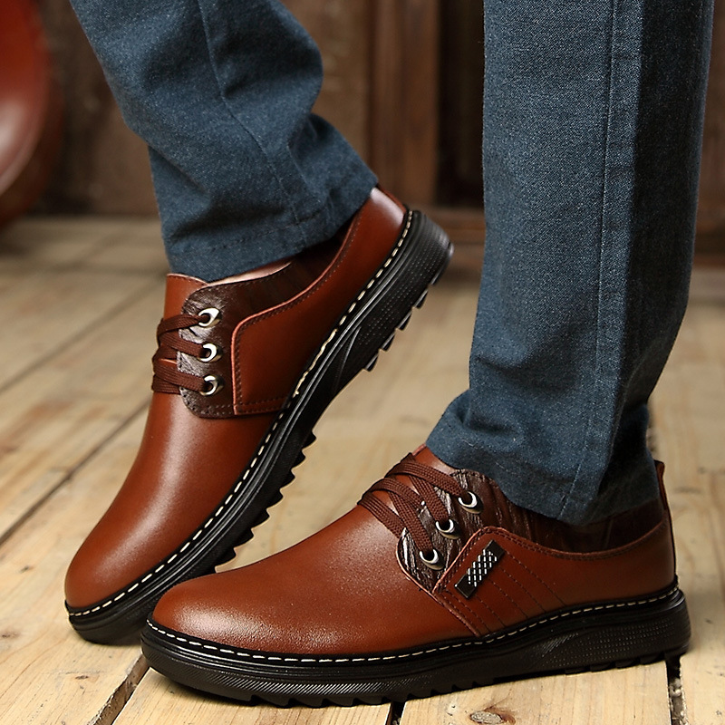 Гаджет  2015 Brand New Men Oxfords Shoes 2 Colors Wholesale Price Fashion Leisure Genuine Leather shoes For Men. None Обувь