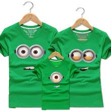 Family Clothing Boys Girl Mother Cotton Minions T Shirt Men Women Matching Clothes Kids Despicalbe Me Tee Shirts T-shirts Tops