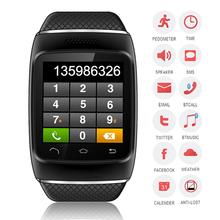 Горячая распродажа S12 bluetooth-смарт часы Smartwatch наручные часы класса люкс синхронизация призывом для IOS Samsung HTC Xiaomi Huawei телефон помощник