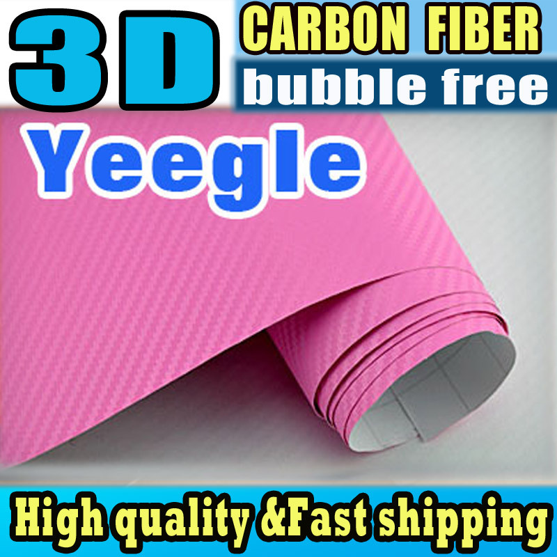 Car beauty foil DIY waterproof car styling with retail packaging for your beloved car 3D Carbon Fiber Vinyl Film fast shipping(China (Mainland))