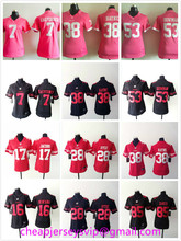 Stitched Women San Francisco 49ers Colin Kaepernick Jarryd Hayne NaVorro Bowman Carlos Hyde Joe Montana Vernon Davis For Ladies(China (Mainland))