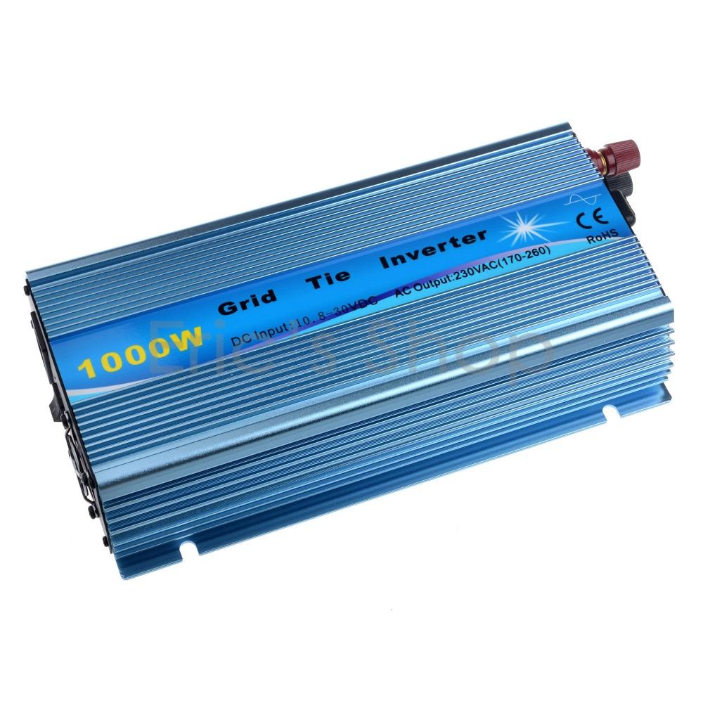 Grid Tie Inverter 1000W Pure Sine Wave Inverter DC18V to AC220V Output Blue Color(China (Mainland))