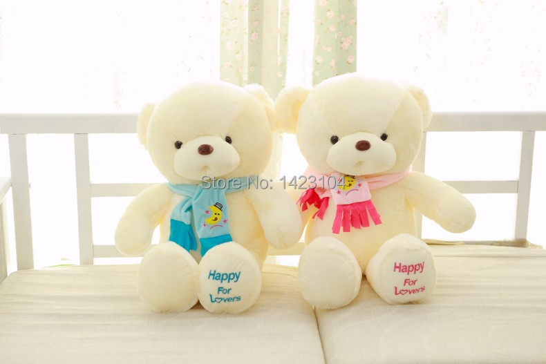 Lovely small plush toys and gifts lovely shape of good quality and low prices.45CM High teddy bear with Scarf.child gift(China (Mainland))