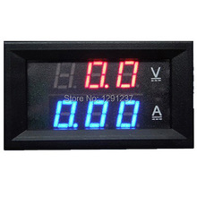 Wholesale Retail DC 0V 100V Led Volt Amp Meter Voltage Meter Current Meter Ampere Panel Meter