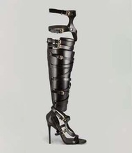 2013 25pt sexy cutout boots open toe boots barreled cool boots vintage zipper boots genuine leather(China (Mainland))