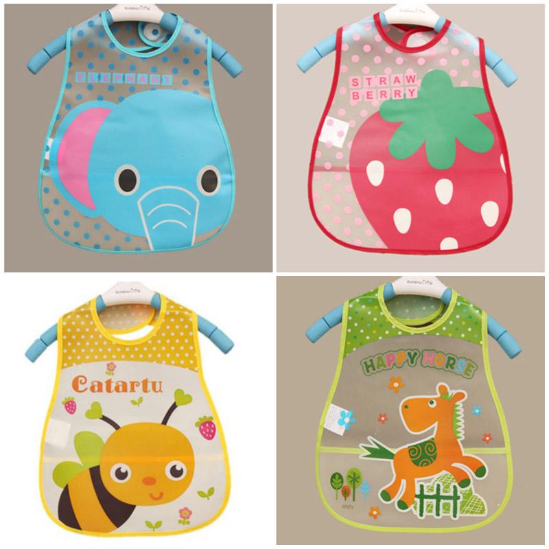 Baby Bibs EVA Waterproof Boys Girls Infants Cartoon Pattern Bibs Burp Cloths For Children Self Feeding Care(China (Mainland))