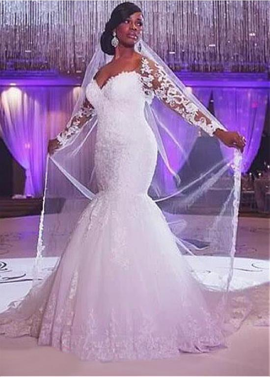 Popular Full Figured Wedding Dresses with Sleeves-Buy