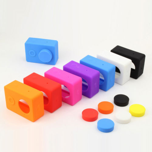 New Soft Protective Silicone Case For Xiaomi Yi Action Camera Lens Cov
