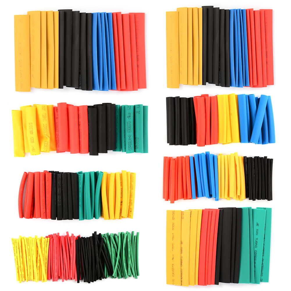 328pcs Assorted Heat Shrink Tube 5 Colors 8 Sizes Tubing Wrap Sleeve Set RC214(China (Mainland))