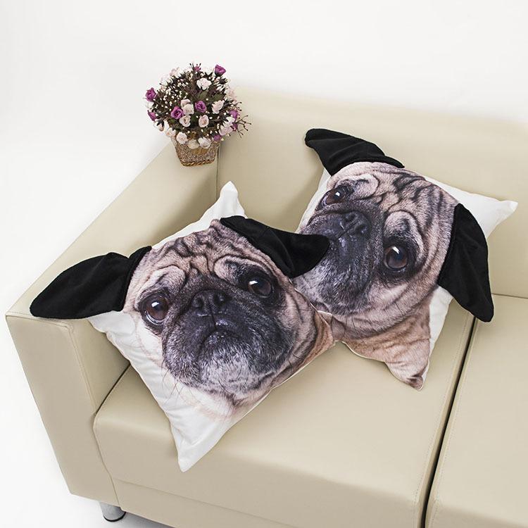 1 pc Cute Short plush 3D lifelike dog cat Cushion With Inner Home Decor Sofa Car Seat Decorative Throw Pillow Hot Sale Housse(China (Mainland))