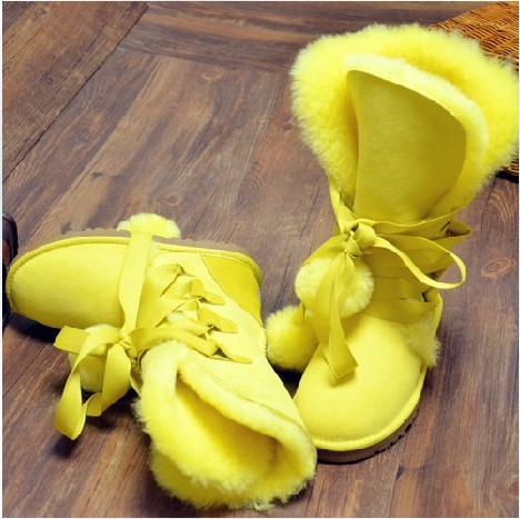 Гаджет  New winter shoes sheep fur boots in the snow boots bind style 4 color None Обувь