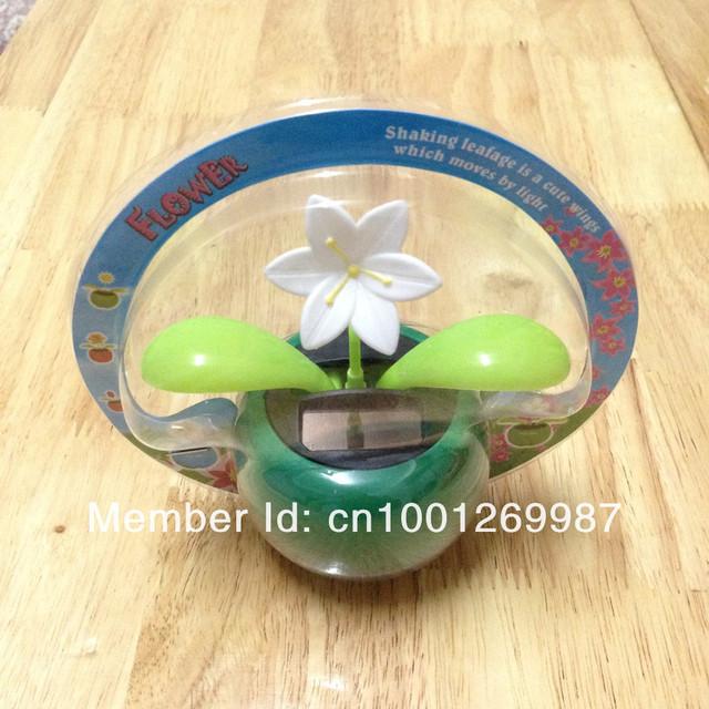 Solar Powered Swing Solar Flower, Magic Cute Flip Flap  Plant Swing Solar Toy,  Cool Car Dancing Toy, solar flower Free Shipping