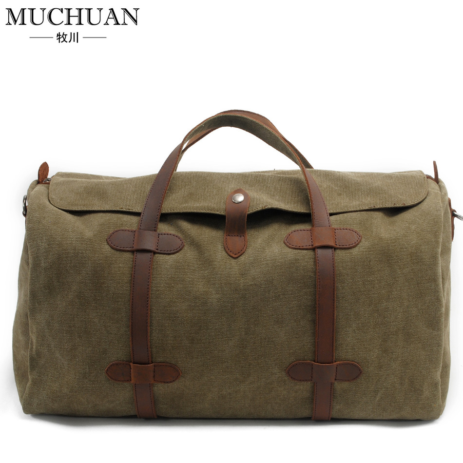 Фотография Moctran Canvas Travelling Bag Woman Handbag Tide Short Leisure Time Travel Original Will Capacity Luggage Package Male