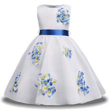 Платье подружки невесты для девочек-подростков на свадьбу; платье с цветочным узором для девочек; вечерние платья; детское платье принцессы...(China)