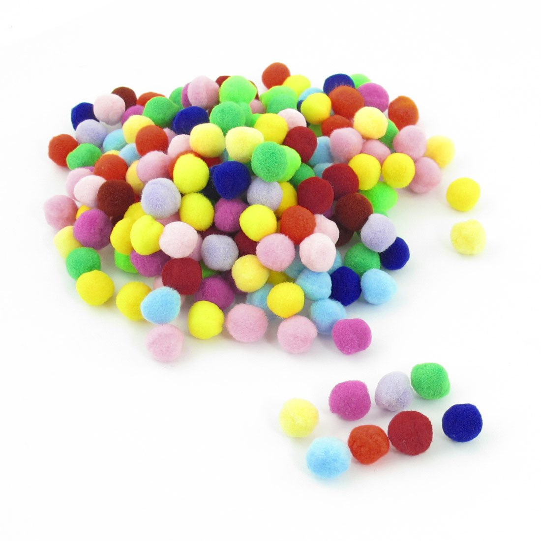 WSFS Wholesale 2 X 200 Pcs 10mm Dia Plush Colorful Pom Ball Sew On Clothes Trousers Bags<br><br>Aliexpress