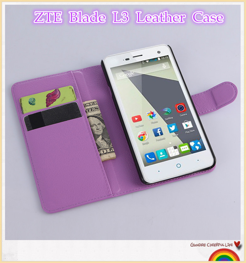 zte blade l3 case 9 colors litchi texture open book style. Black Bedroom Furniture Sets. Home Design Ideas