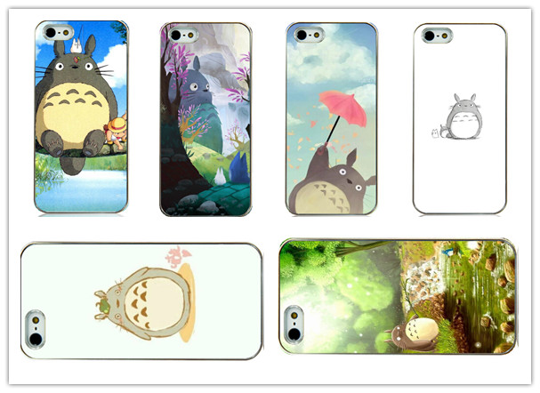 japanese popular anime totoro cute cartoon white Hard Back Case Cover for iphone 4 4s 4g Free shipping(China (Mainland))