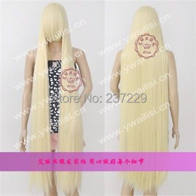 CS85&amp;Wholesale563 *****New long Platinum Blond Cosplay Party Wig 150cm<br><br>Aliexpress