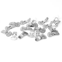 20PCS/Lot Blank Stainless Steel Flower Shoes Clips On Findings DIY Craft Buckles  (China (Mainland))