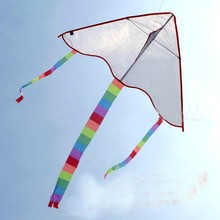 free shipping high quality diy kite painting blank kite 5pcs/lot with kite line ripstop nylon fabric kite weifang factory cheap(China (Mainland))