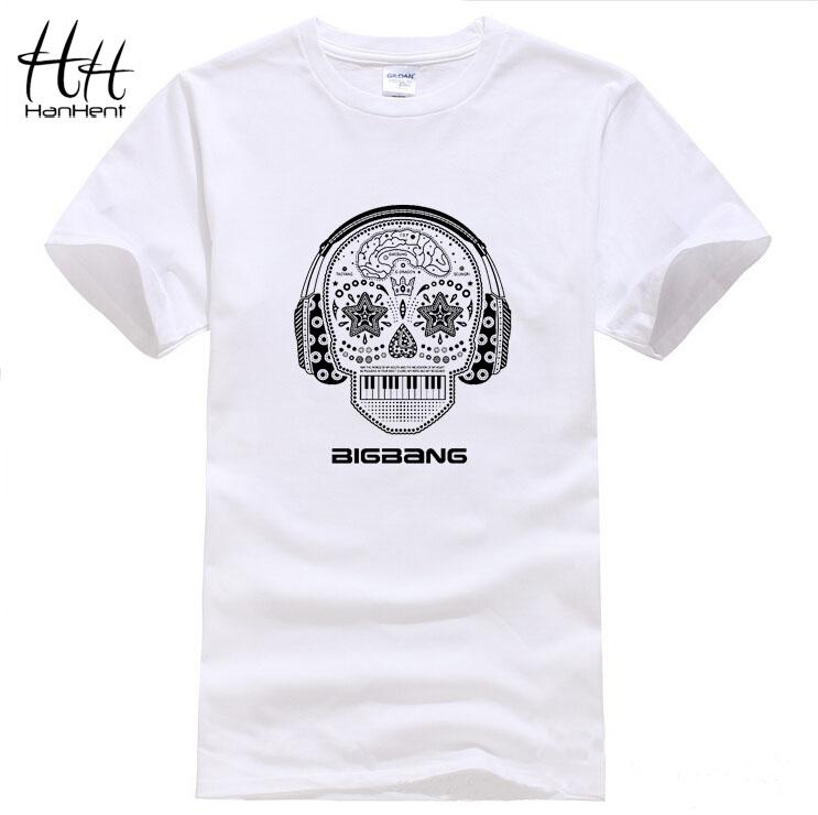 Bigbang T-shirt Men 100% Cotton Short sleeve O-neck Tshirt Skulls Music Band New 2015 Summer Fashion T shirt TA0323(China (Mainland))
