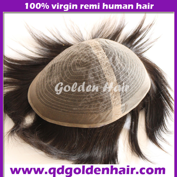 Free Shipping Stock Alibaba Wholesale Light Brown Medium Density Full Lace Toupee(China (Mainland))