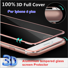 2016 Clear Front Screen Protector for iPhone 6 plus Tempered Glass Full Cover 5.5″ 3D Curved Edge Titanium Protective Film