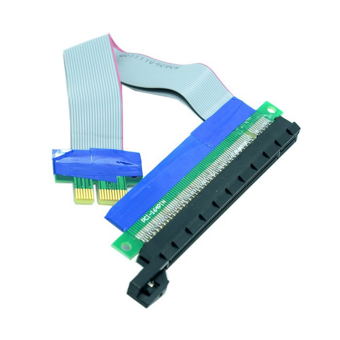 The New PCI-E Express 1x to 16x Extension Flex Cable Extender Converter Riser Card Adapter 20cm(China (Mainland))