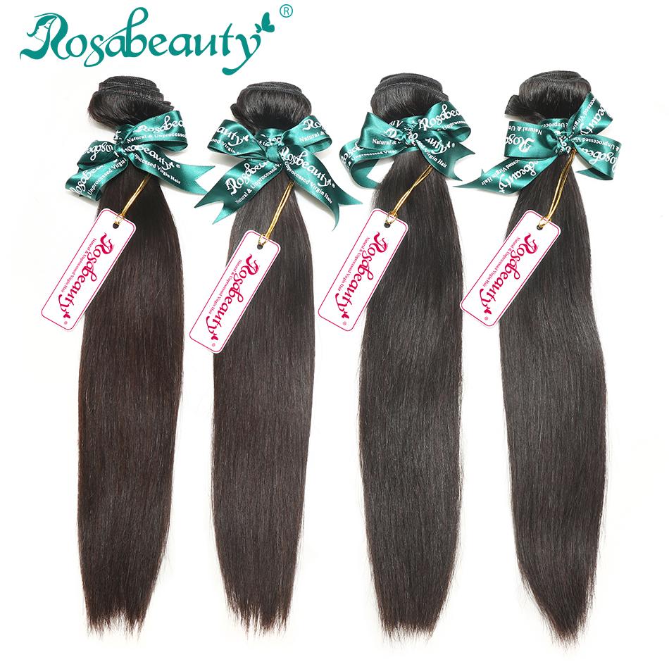 Peruvian Virgin Hair Straight 4 Bundles Lot 100% Human Hair Extensions Rosa Hair Products Free Shipping(China (Mainland))