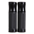 Free Shipping CNC Black Motorcycle Grips Aluminum Rubber Gel Hand Grips for 7 8 Handle Bar