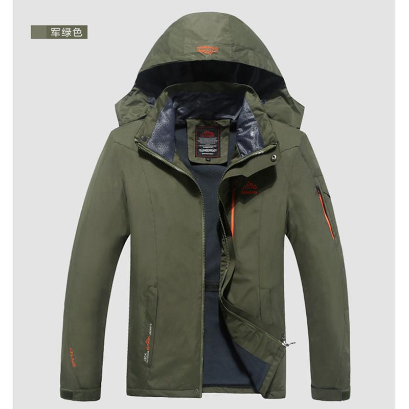 Original Plus Size Spring Autumn Men's Outdoor Jackets Hoodie Plus Velvet Jacket waterproof windproof outwear men's Sport Coat(China (Mainland))