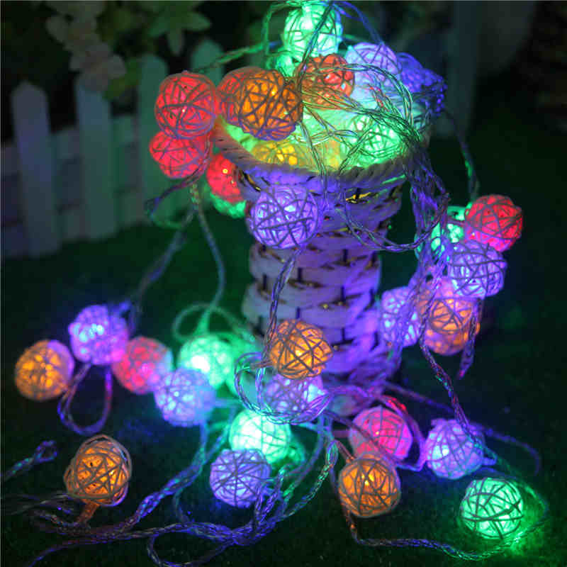 String Lights With Fabric : Aliexpress.com : Buy 5m 20LEDs Fabric Creamy Cotton led Ball String Fairy Lights Xmas Wedding ...