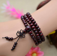 Natural 108 6mm Sandalwood Buddhist Buddha Meditation Beads Bracelets For Women Men Jewelry Prayer Bead Mala