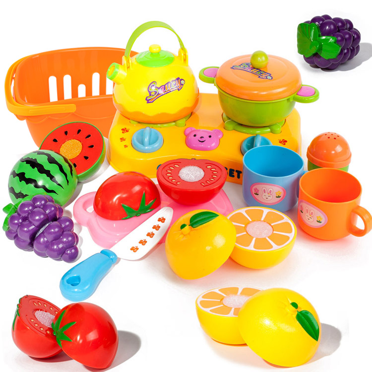 Kitchen Set Toys For Sale: Hot Sale Child Girl Toys Fruit Qieqie Look Set Kids