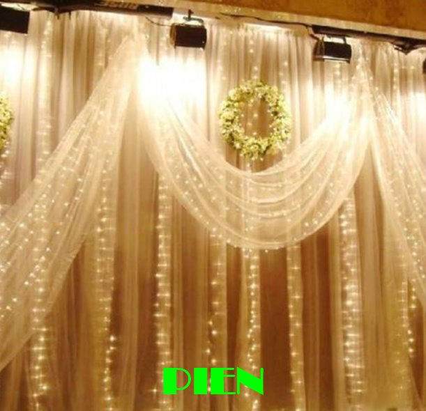 300LED Curtain lights for wedding Icicle LED String Fairy Light christmas party home decoration 3m*3m 3mx3m 220V 110V Free shipp(China (Mainland))
