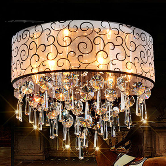Free shipping luxury modern crystal ceiling light Dia60*H35cm crystal lights for living room lamp(China (Mainland))