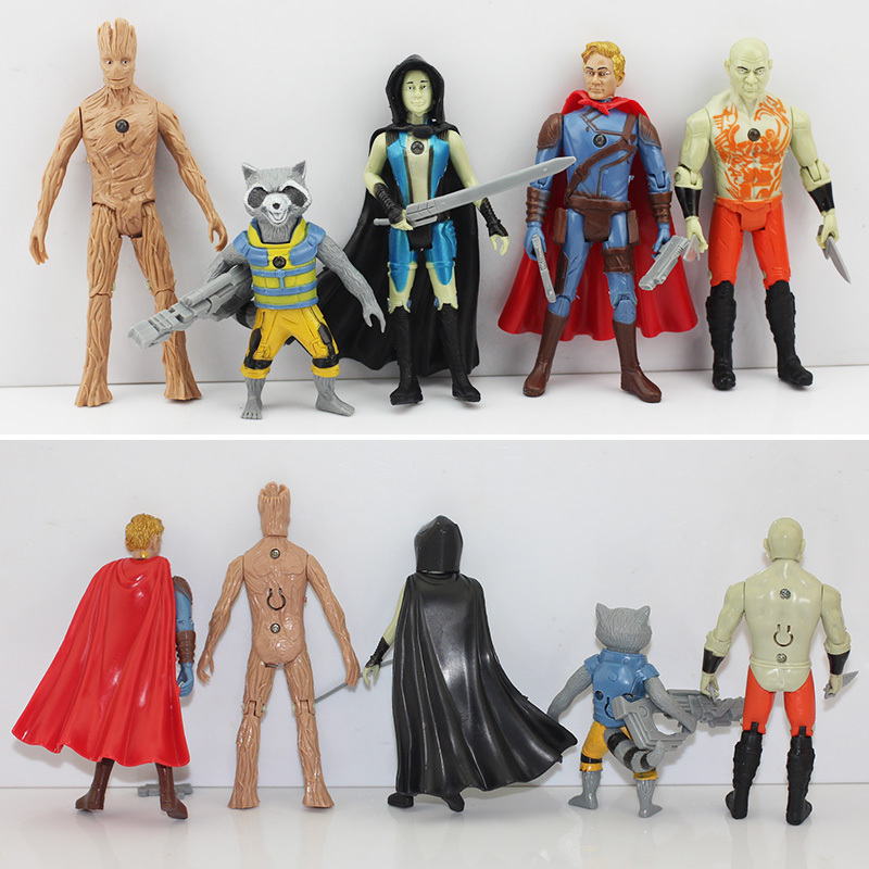 2Groot Guardians Galaxy Action Figure Toys Tree Man Rocket Figures Brinquedos Anime model - HangZhou TianYu Technology Co., LTD. store