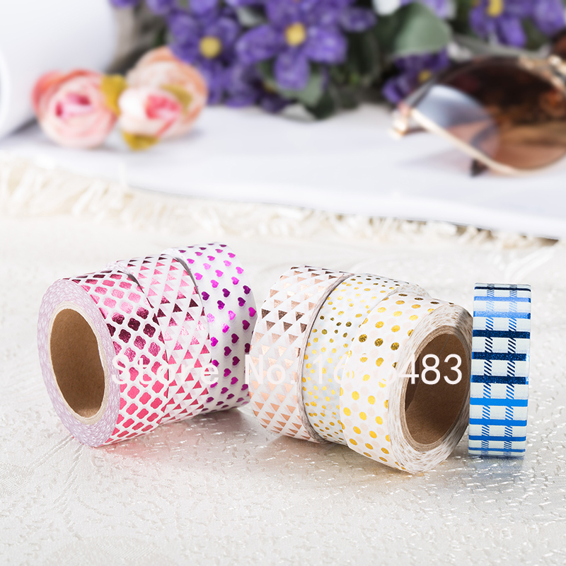 45 designs gold foil washi paper tape for gift decorative box paper tape<br><br>Aliexpress