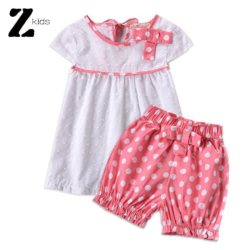 Toddler Girl Clothing Sets Summer Dress + Polka Dot Shorts Vetement Enfant Roupas Bebes Kids Clothes Brands High Quality(China (Mainland))