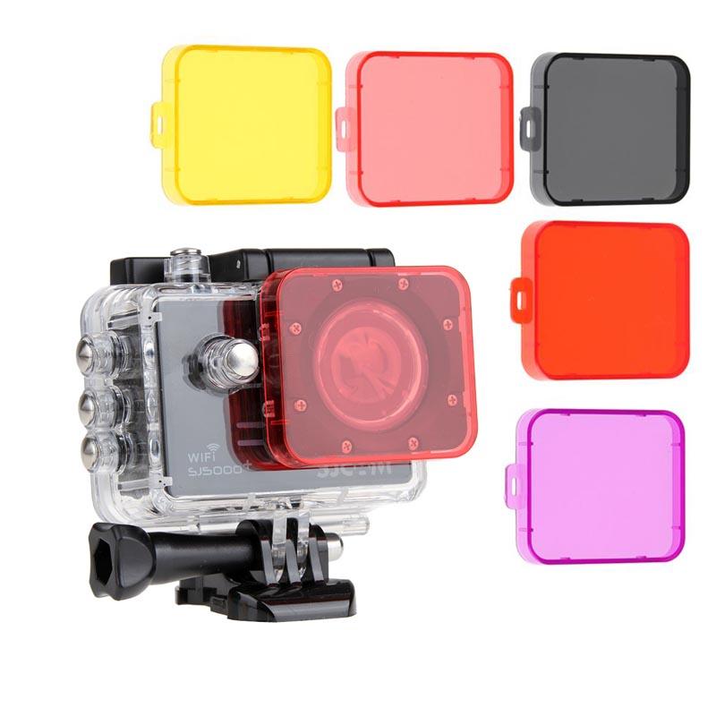 1 Piece Diving Lens Filter Protector Case For SJCAM SJ5000 Sport Camera SJ5000 Wifi SJ5000+ Wifi Sport DV Action Camera 5 Colors(China (Mainland))