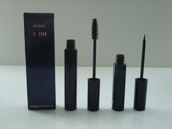 Free shipping~Professional Lengthening MASCARA Kit CD KISSES 2 in 1 Mascara makeup set 15g*8ml,Waterproof!5Pcs/lot(China (Mainland))