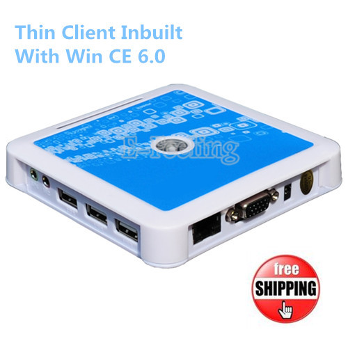 Win CE 6.0 Thin Client PC Computer Station 128MB RAM/Flash RDP Thin Client Solution for Unlimited Users With Free Shipping(China (Mainland))