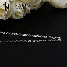 2015 Trendy Platinum Plated Link Chains Necklaces For Women 18 inches Gold Chain Mens Necklace collares colar collier C004(China (Mainland))